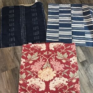 Lot of 3 pottery barn pillow covers (24x24 inch)